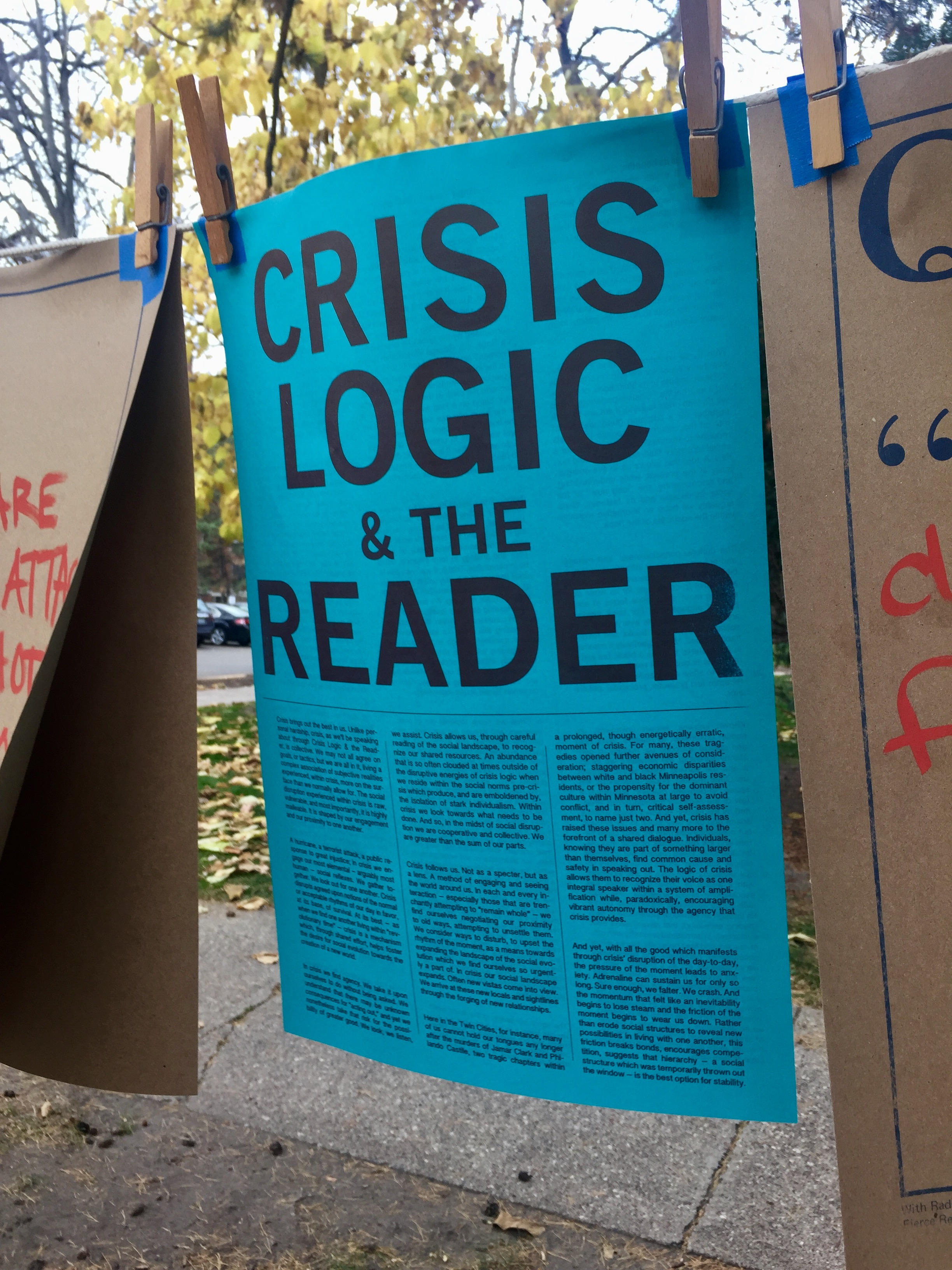 Crisis Logic & the Reader: Election Reflection
