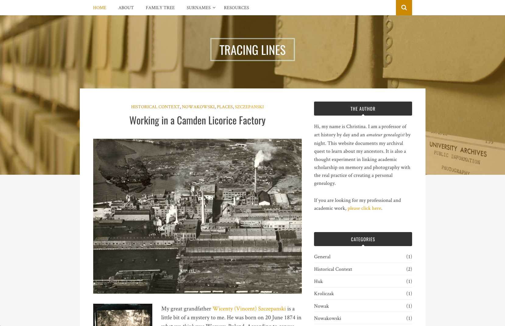 Website // Tracing Lines (WordPress)