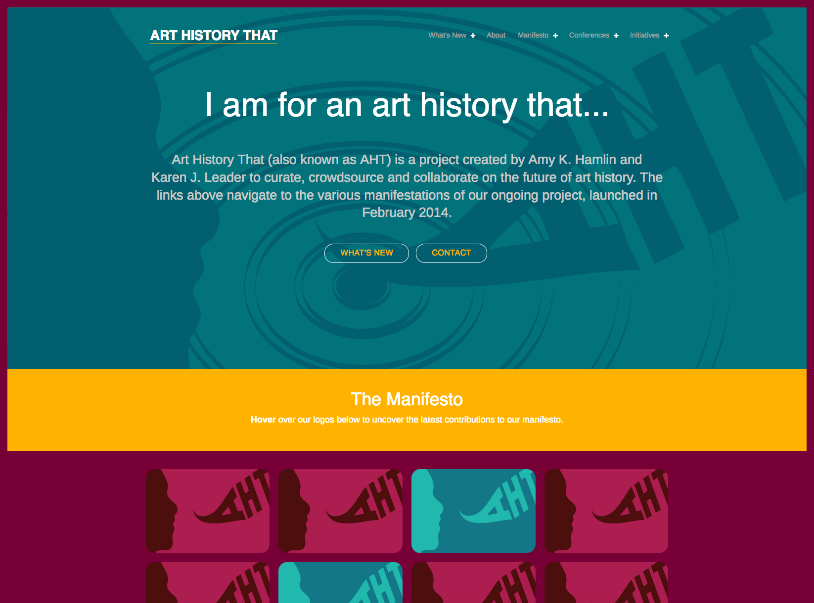 Website Redesign // Art History That (WordPress)