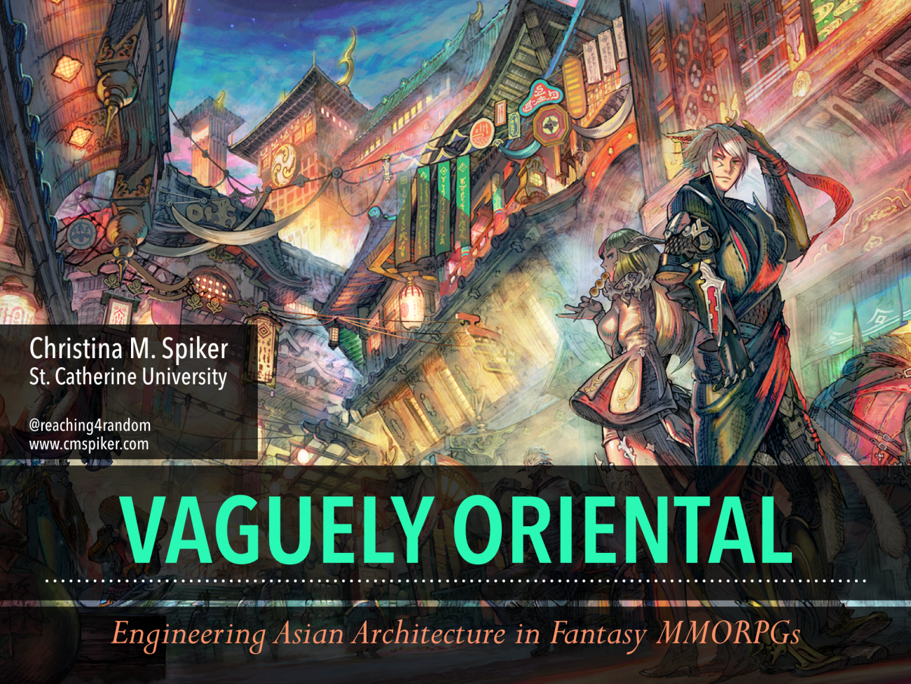 Presentation: Asian Architecture in Fantasy MMORPG's @ the Popular Culture Association