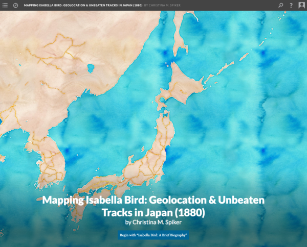 Website // Mapping Isabella Bird (Scalar 2)
